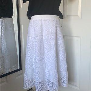 🌟8/28 HOST PICK !🌟Madewell Geo-Lace Eyelet Skirt